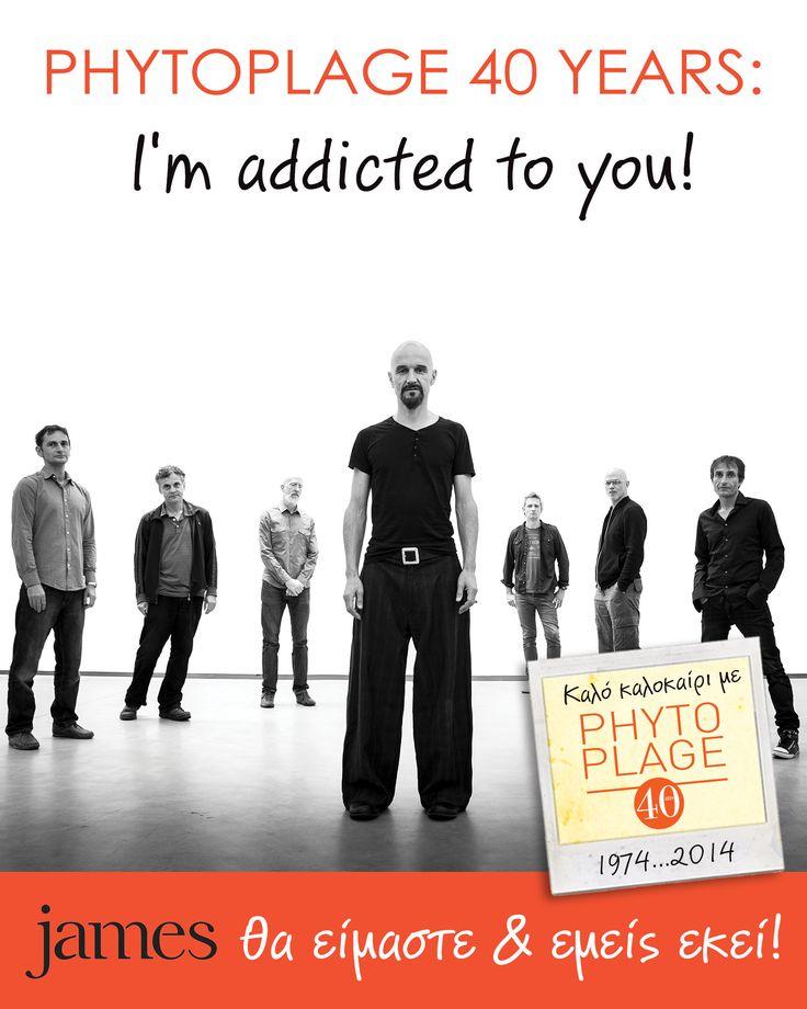 "We're addicted to Phytoplage! We're addicted to James!   Η Phytoplage σε απογειώνει και σε πάει στους James για να απολαύσεις την πιο εθιστική συναυλία του καλοκαιριού!   Μπες στην κλήρωση για 10 διπλές προσκλήσεις μέσα από την εφαρμογή ""Διαγωνισμός James"" στη σελίδα μας στο facebook!"