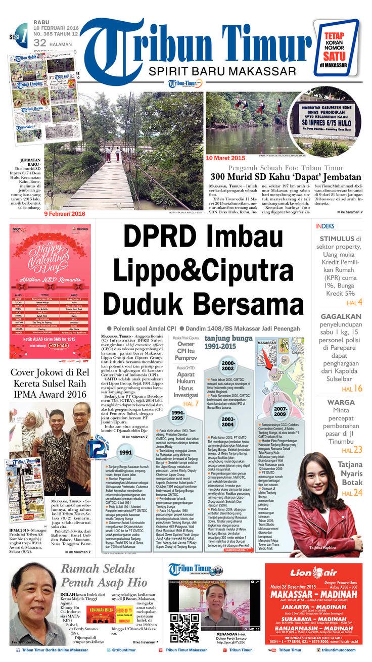TRIBUN Timur edisi Rabu, 10 Februari 2016