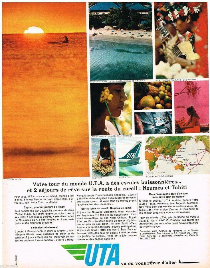 UTA publicité in 2020 Utas, Airlines