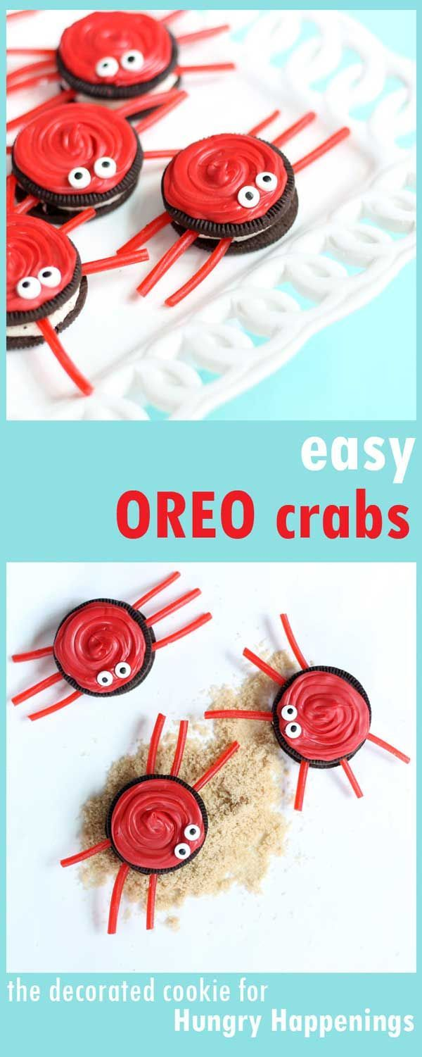 Easy Oreo Crabs to make with your kids - If they make a mess, at least it's an edible mess!