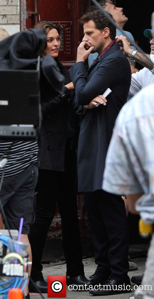 On the set of the ABC show 'Forever'. You guys are ADORABLE.