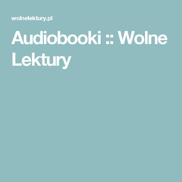 Audiobooki :: Wolne Lektury