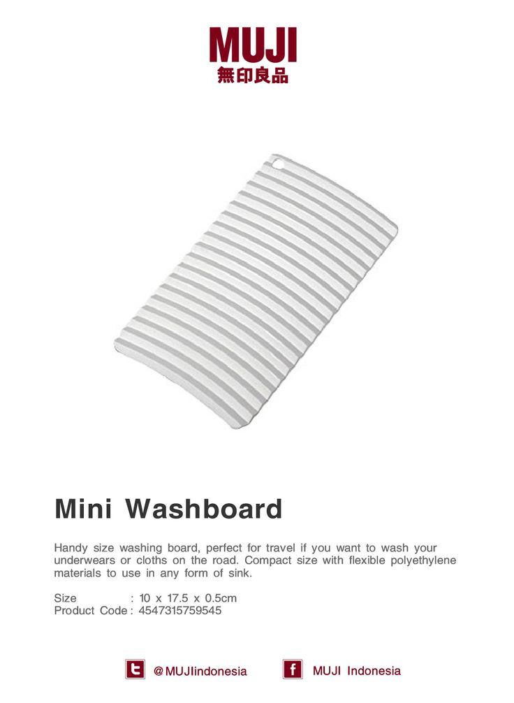 [Mini Washboard] Handy size washing board, perfect for travel. Made from flexible materials.