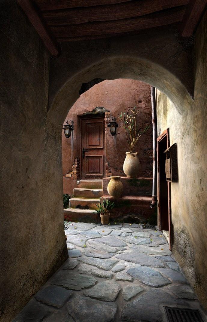 Cobblestone Street Architecture, Beautiful doors, Doorway