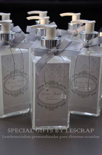 SABONETE LIQUIDO FRASCO QUARTIER - BODAS DE PRATA by Gifts for a special Occasion