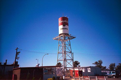 Giant Campbells Soup Can Water Tower