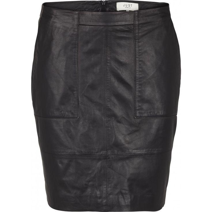 Alberte leather skirt black