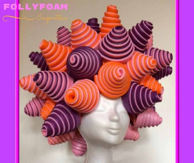Foamwig / foampruik / wig / pruik / Perücke made of foam from FollyFoam ! Great for carnaval, cosplay, theatre, dragqueen, party, show, etc