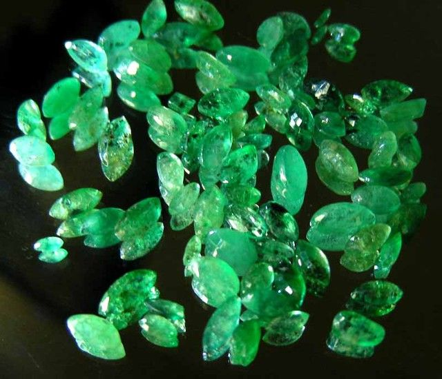 Cut and Faceted Enhancement Emeralds for sale as singles, doubles and triplets sizes vary. for more details and prices PM me