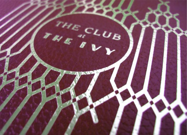 The Club @ The Ivy // design by Chris Edmunds from United Creatives