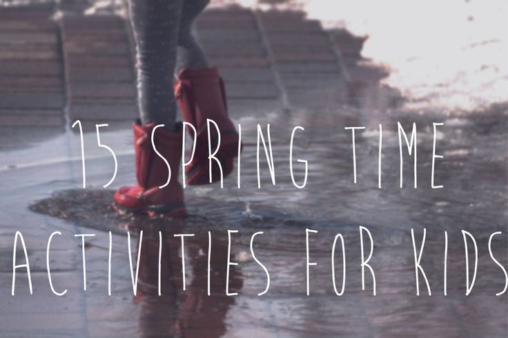 After a long winter stuck indoors your children will be itching to get outside! Here are some fun spring time activities that your kids can enjoy. 1. Go for a walk 2. Splash in puddles 3. Plant flo…