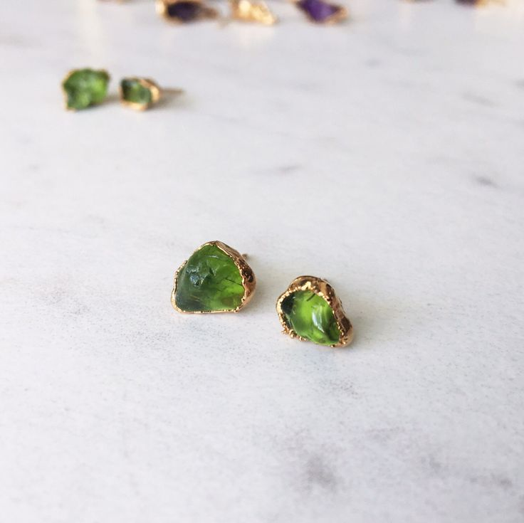 Raw Peridot Earring - Green Peridot Earrings - August Birthstone Earrings - Raw Crystal Earrings - Rough Peridot Earrings - RINGCRUSH - Gree by Ringcrush on Etsy https://www.etsy.com/listing/474176980/raw-peridot-earring-green-peridot
