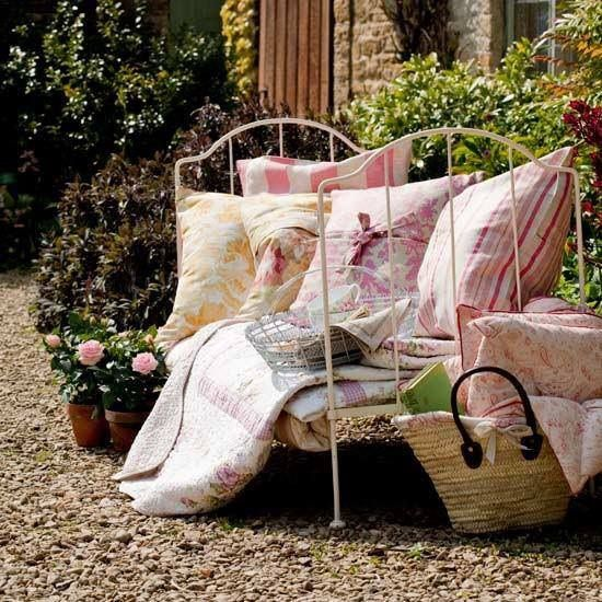 day bed outdoors