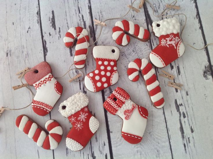 Christmas socks and candy sticks | Cookie Connection