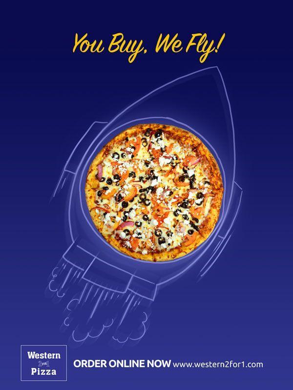 Pizza Espacial Food Poster Design Food Graphic Design Food Poster