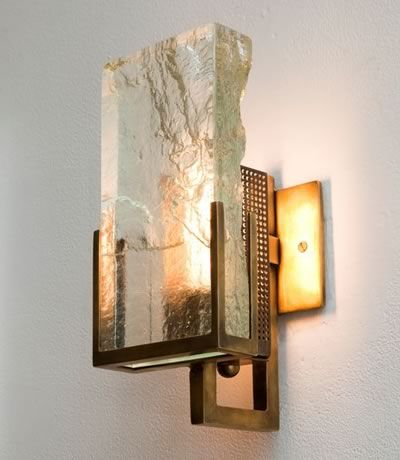 | P | Ralph Pucci Lianne Gold Glass Sconce http://www.ralphpucci.net/lighting/Lianne-Gold/collection
