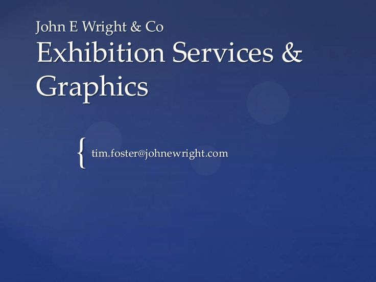 exhibition-services-graphics by Tim Foster via Slideshare