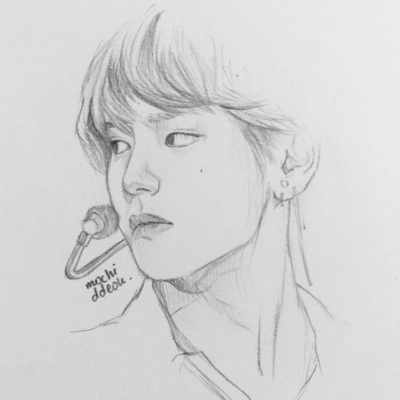 Quick Drawing Of Tae #btsfanart #bts #taehyung #v #태형 #방탄소년단 #방탄팬