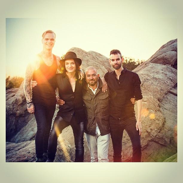 Placebo and Joseph Llanes. Loud Like Love photo shoot.