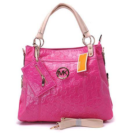 $79 Michael Kors Grayson Monogram & Wallet Crossbody Bag Peach : Michael Kors Outlet Online