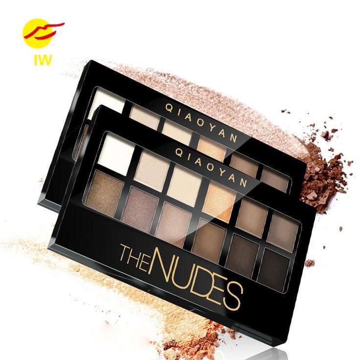 12 Colores de Maquillaje Sombra de Ojos Shimmer Mate Sombra de Ojos Color de Tierra de Sombra de Ojos Paleta Cosmética Set de Maquillaje Nude Sombra de Ojos