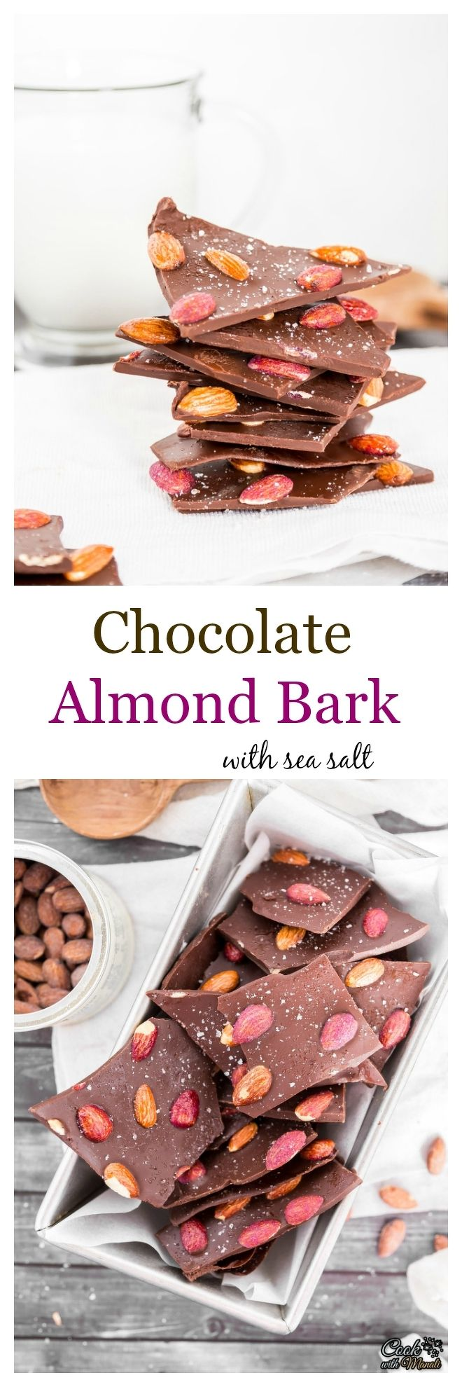 Chocolate Almond Bark with Salted Caramel & Blueberry Almonds and a hint of sea salt! Perfect for snacking or gifting! #chocolate #ad