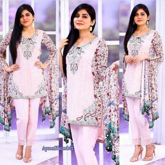 Sanam baloch latest pakistani dress