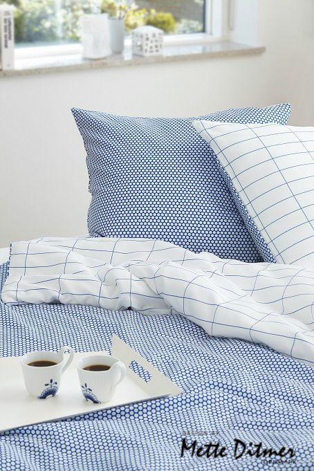 Luksus sengetøj fra Mette Ditmer - Tile Stone blå
