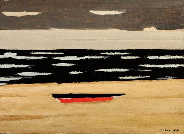Kamil Linhart - Coast with Boat, 1962