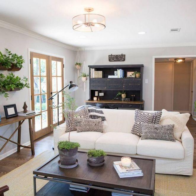 53 Trends You Need To Know Farmhouse Living Room Joanna Gaines Magnolia Homes Decorating Ideas 102 Inspirabytes Com Salons De Ferme Salon Rustique Decoration Salon