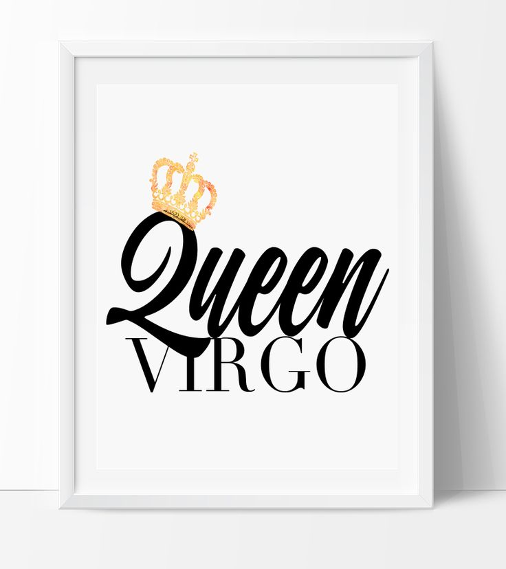 Virgo King/Queen Print – ZodiacCity Shop