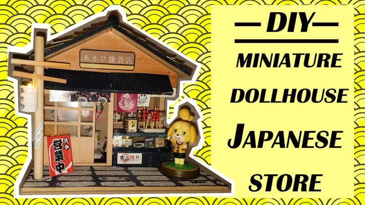 DIY Miniature Dollhouse Japanese Grocery Store