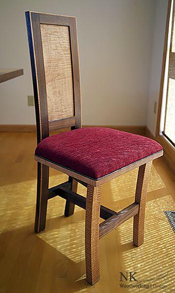 NK Woodworking Maple And Walnut Custom Dining Room Set Buffet