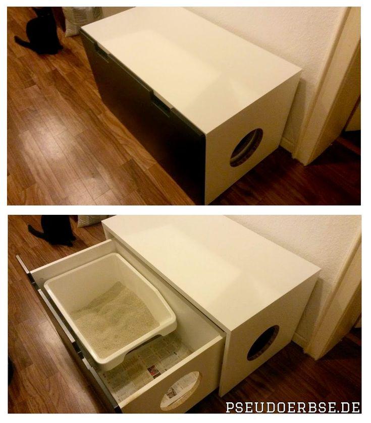 #Ikea #Ikeahackers Stuva als Katzenklo. Endlich fliegt das Katzenstreu nicht mehr überall rum. :D  #cat #litter #katzenklo #stuva #handmade