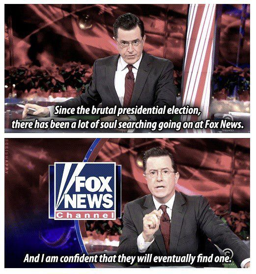 Stephen Colbert on Fox News's soul - this is one of my very favorites!