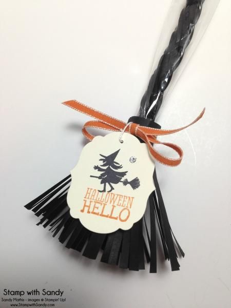 Witches Broom Treat Holder by stampwithsandy - Cards and Paper Crafts at Splitcoaststampers