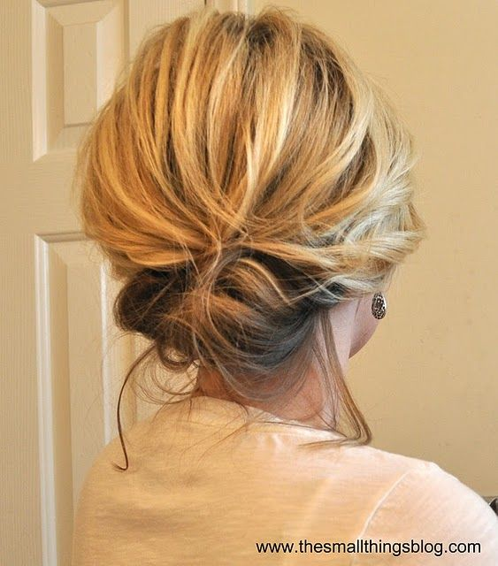 Looks like an easy updo that can be either messy/very polished.  Definitely one to try.