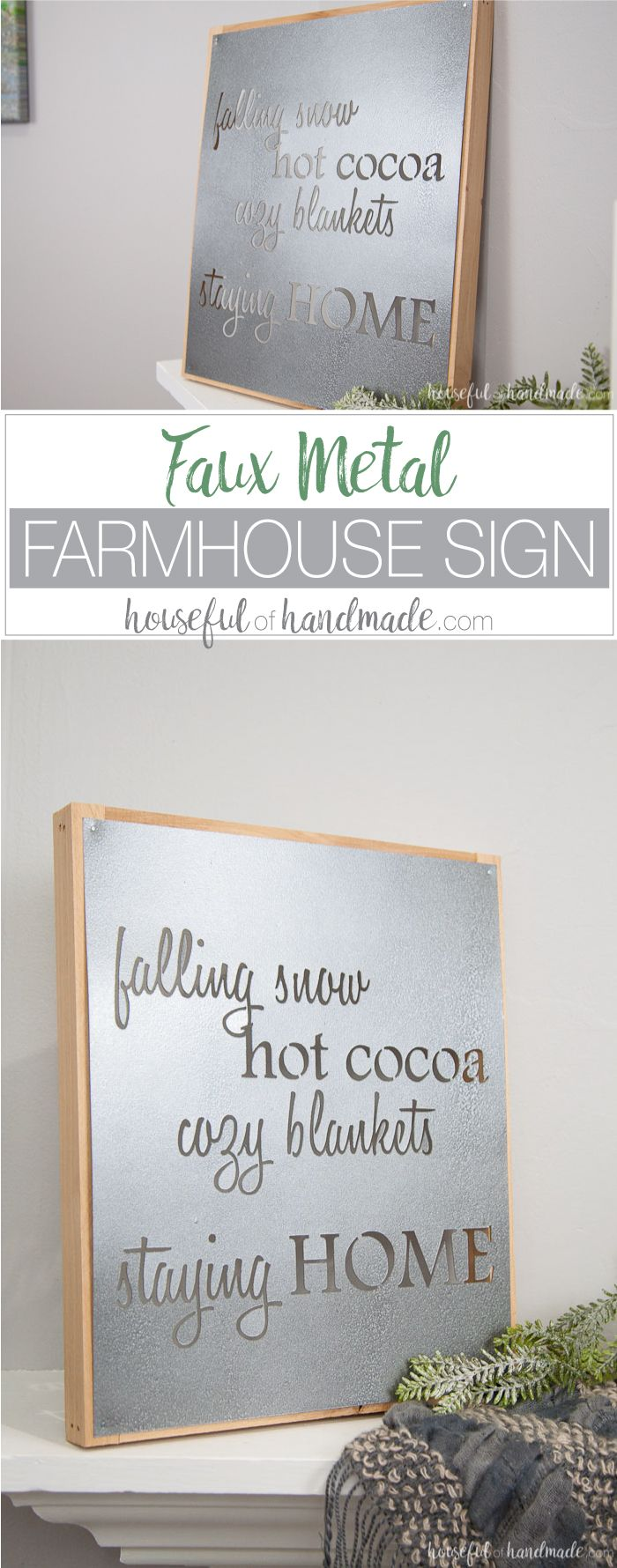 Shabby chic crafts to make - Faux Metal Farmhouse Sign