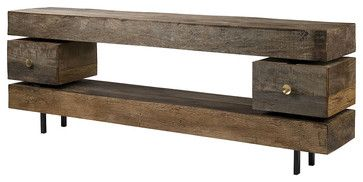 Dillon Console Table - eclectic - media storage - new york - Zin Home
