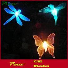 Solaire Propulsé Colibri Papillon et Libellule Pieu Jardin Lumière avec Changement de Couleur LED