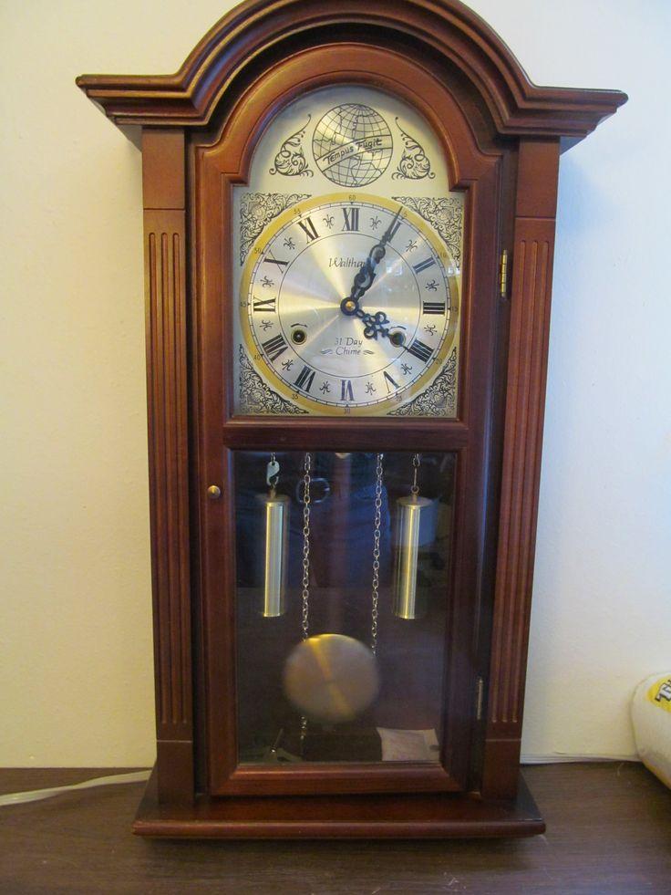 Waltham Tempus Fugit Walnut Pendulum 31 Day Chime 2 Pipe