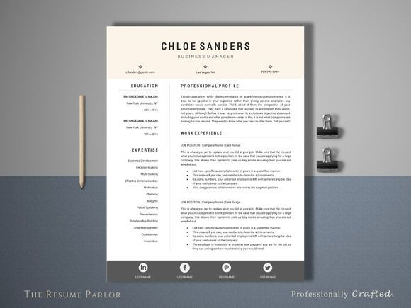 12 best 15+ Photographer Resume Template Word, PSD Format images - professional resume fonts