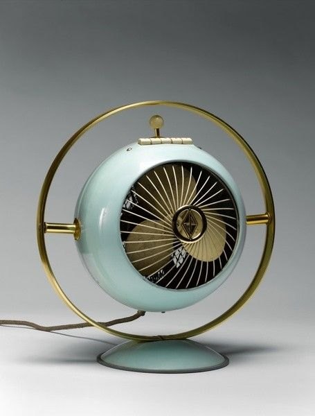 unique vintage 60s 50s fan ventilator design classic türkis, turquoise gold golden – We collect similar ones – Only/Once – www.onlyonceshop.com