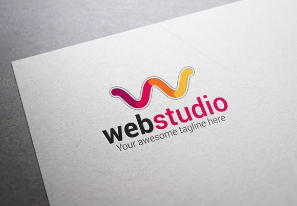 Web Studio W Letter Logo by XpertgraphicD on @creativemarket