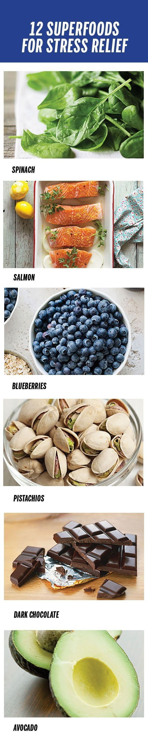 12 superfoods to eat for stress relief. | Health.com