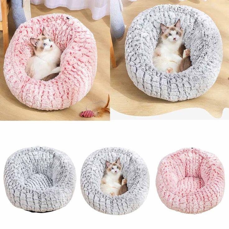 Dog Round Cat Winter Warm Sleeping Bag Long Plush Soft Pet