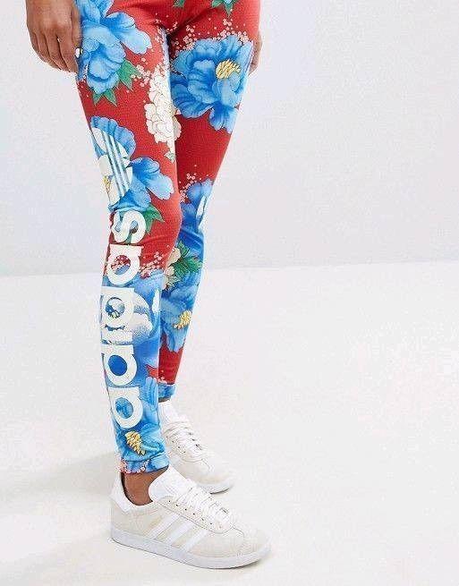 e4dcaf7e38b9f0 adidas x FARM Womens Chita Floral Leggings Originals | BJ8418 #fashion  #clothing #shoes #accessories #womensclothing #leggings (ebay link)