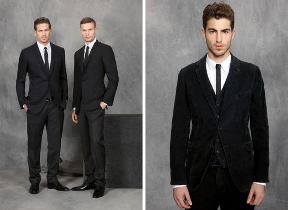 Черный бархатный пиджак мужской