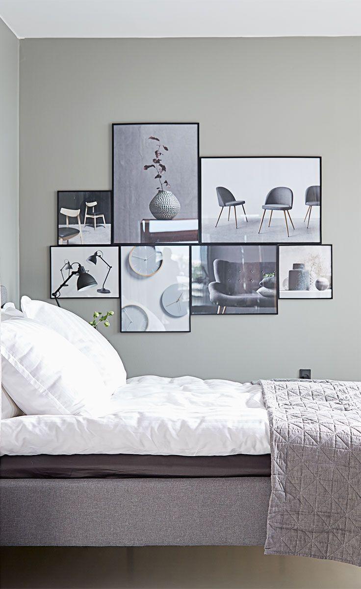 Samspillet mellem MILLINGE sengerammen og billederne er med til at vise, hvordan du kan kombinere det ekstravagante look med klassisk skandinavisk minimalisme.