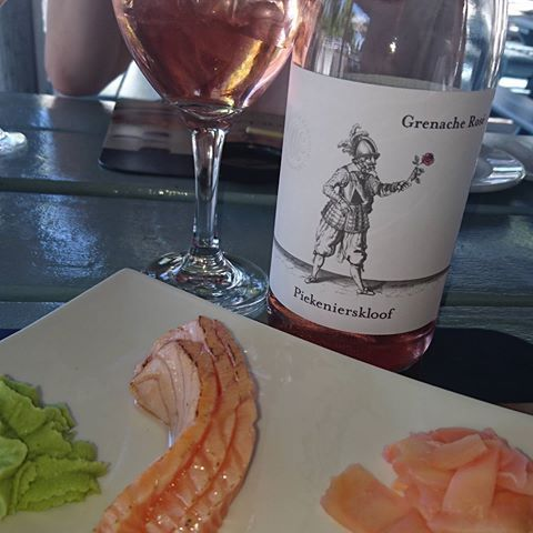 #piekenierskloofwine #grenacherose #grenache #rose #pairing #sushi #salmon #sashimi